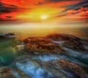 Rockowy Hin ta od Tajlandzkiej wyspy Koh Samui Obrazy Royalty Free