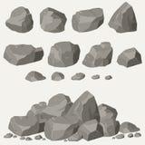 Rockowy kamienia set ilustracja wektor