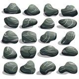 Rockowy kamienia set ilustracji