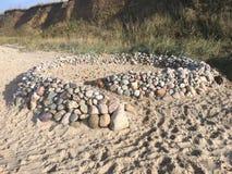 Rockowy kasztel na morzu bałtyckim blisko Heiligenhafen Obrazy Stock