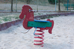 Rockowy koń w parku Obrazy Royalty Free