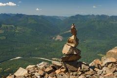 Rockowy kopiec na Sauk górze Zdjęcie Stock