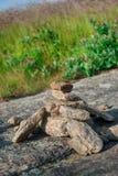 Rockowy kopiec Wzdłuż Popularnego Footpath Fotografia Stock