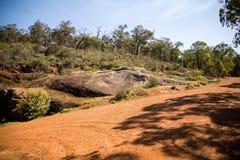 Rockowy krajobrazu krajobraz w John Forrest parku narodowym obraz stock