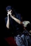 rockowy laibach piosenkarz Zdjęcia Royalty Free