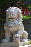 Rockowy lew przed Chińską świątynią Zdjęcie Royalty Free
