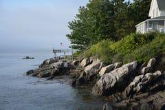 Rockowy Maine brzeg zdjęcie royalty free