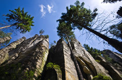 Rockowy miasteczko w Adrspach fotografia royalty free