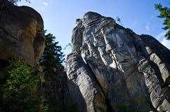 Rockowy miasteczko w Adrspach zdjęcia royalty free