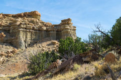 Rockowy odsłanianie w pustynnych południowych zachodach obrazy stock