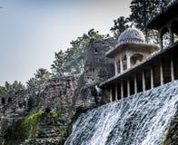 Rockowy ogród, atrakcja turystyczna w Chandigarh, Pundżab, India obraz stock