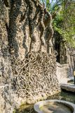 Rockowy ogród, atrakcja turystyczna w Chandigarh, Pundżab, India zdjęcia stock