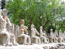 Rockowy ogród Chandigarh, India zdjęcie stock