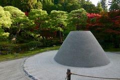 Rockowy ogród w ginkakuji w Kyoto zdjęcia royalty free
