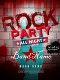 Rockowy partyjny plakat Zdjęcie Royalty Free