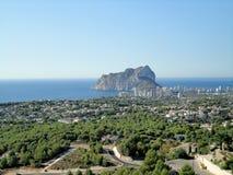 Rockowy peñon De IFACH Calpe, Hiszpania zdjęcie royalty free