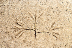 Rockowy petroglif Obrazy Royalty Free