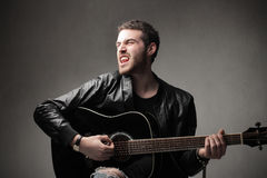 rockowy piosenkarz Obraz Royalty Free