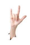 Rockowy ręka gest Obrazy Royalty Free