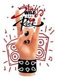 Rockowy ręka plakat Zdjęcie Stock