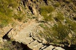 Rockowy schody Obraz Stock