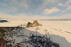 Rockowy szamanu jezioro Baikal Zdjęcie Stock