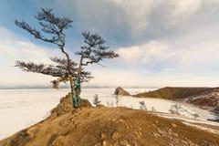 Rockowy szamanu jezioro Baikal Zdjęcia Stock