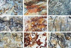 Rockowy tekstura set Zdjęcia Stock