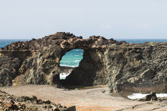 Rockowy łuk, Fuerteventura Fotografia Stock
