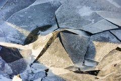 Rockowy łupanie lód, Lofoten wyspy, Norwegia Obrazy Royalty Free