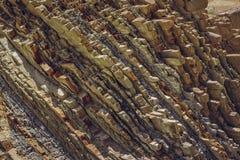 Rockowy warstwy zbliżenie Fotografia Royalty Free