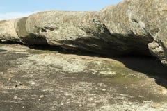 Rockowy wypust przy Arabia górą Fotografia Stock