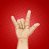 rockowy znak Obraz Stock