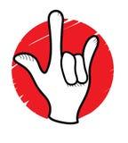 Rockowy znak Obrazy Stock