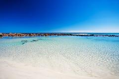 Rockpool em aviva a baía, ilha do canguru Fotografia de Stock Royalty Free