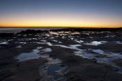 Rockpool soluppgång Fotografering för Bildbyråer