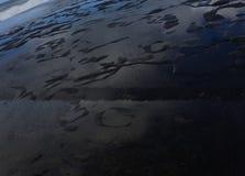 Rockpools. Waves crashing on rocks panoramic Stock Photo