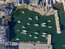 Rockport港口和主题第1, MA,美国 图库摄影