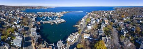 Rockport港口和主题第1, MA,美国 免版税图库摄影