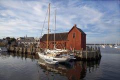 Rockport-Hafen Stockbilder