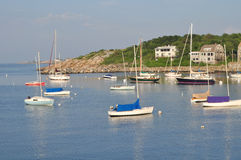 Rockport Harbor 4, MA. Rockport is a beautiful arbor and fishing village in Massachusettes close to Boston. The town is built around the harbor and is a major stock images