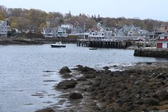 Rockport Harbor Stock Images