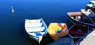 Rockport Harbor Boats Stock Photo
