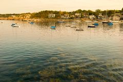 Rockport Harbor MA Stock Image
