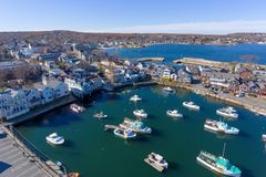 Rockport Harbor and Motif Number 1, MA, USA Royalty Free Stock Photo
