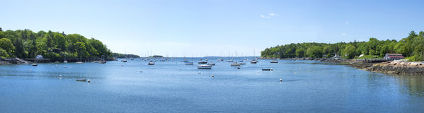 Rockport harbor panoramic Royalty Free Stock Images