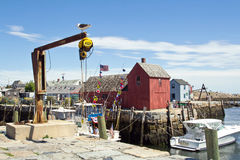 Rockport, harbour Stock Photo