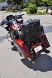 Rockport, am 25. Juni: Harley Davidson Motorcycle in Rockport-Parken von Ontario-Provinz in Kanada Stockbilder