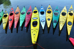 Rockport Kayaks (1), Massachusetts Fotografie Stock