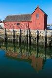 龙虾棚子在Rockport, MA 免版税库存图片